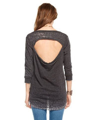 Scoop Neck Drape Back Tee - Koko & Palenki - 2