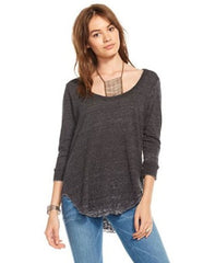 Scoop Neck Drape Back Tee - Koko & Palenki - 1