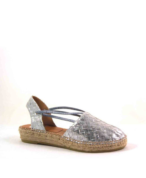 Cailey Embossed espadrille sandal with elastic straps