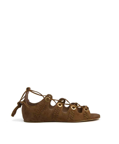 Camille tan suede sandal by Lola Cruz