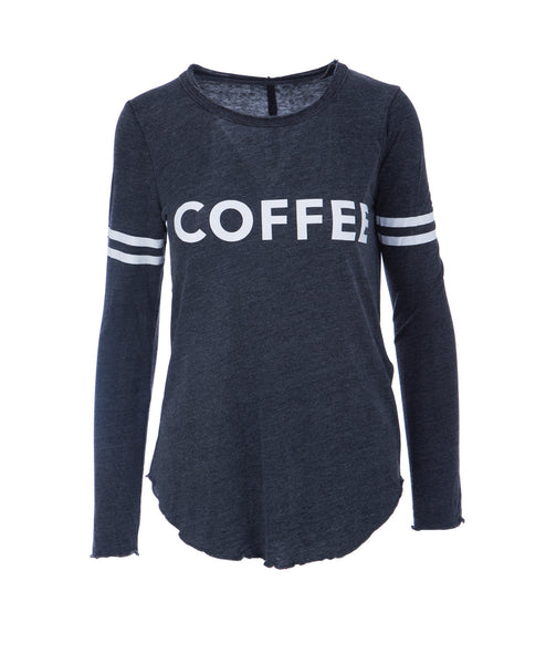 Crewneck Coffee Arm Stripe L/s Tee