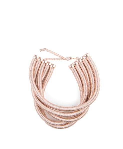 Collar Necklace Metallic Rope
