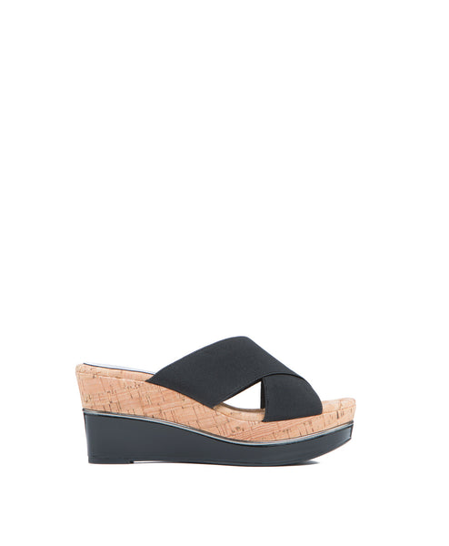 Dani Slide X Strap Wedge
