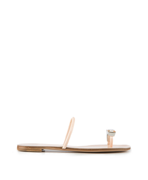 Donna Flat Crystal Toe-Ring Sandal