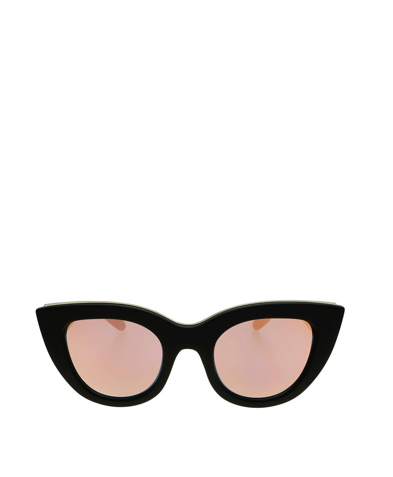 Fifi-Blk/Pink Fifi Cat Eye Matte Black Sunglasses