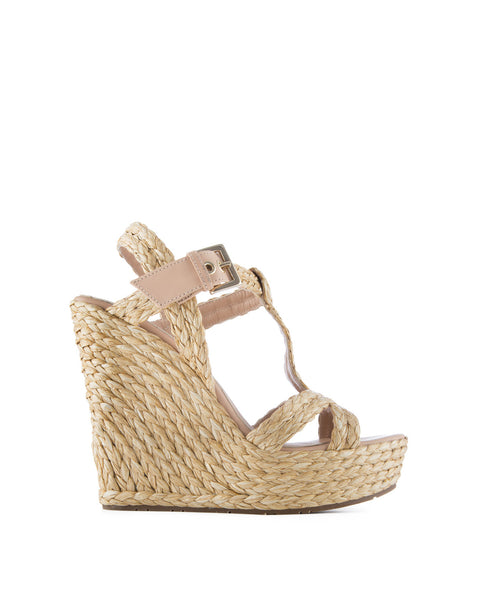 Filipa Raffia Wedge Sandal