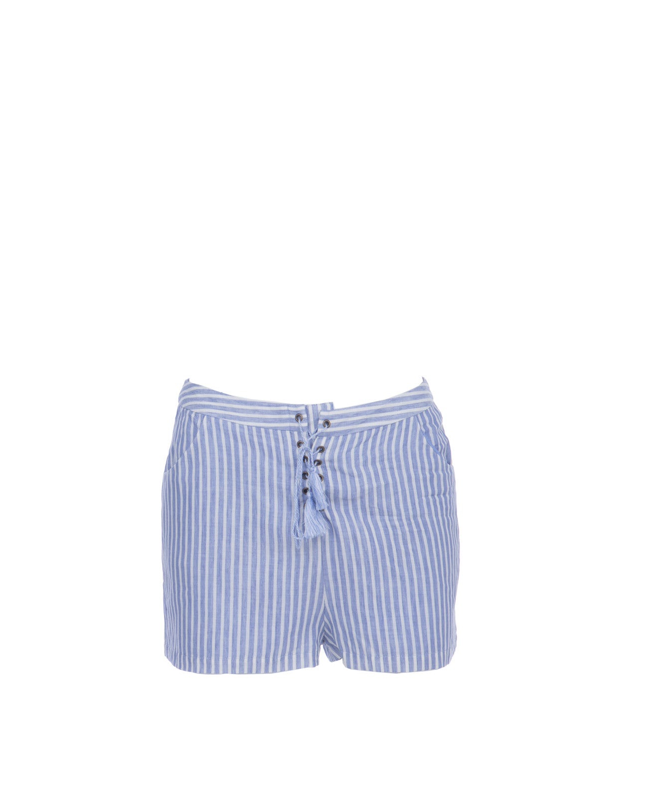 Haven_Short Striped Lace Up Shorts