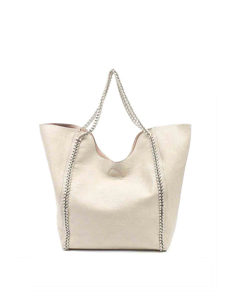 Jackie Braided chain tote handbag
