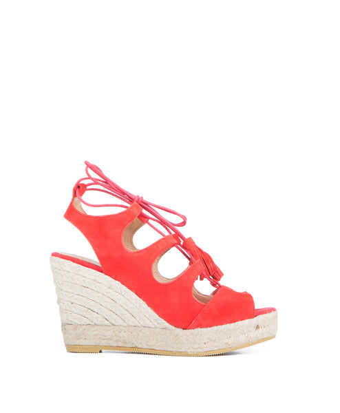 Jena Koko & Palenki Lace Up Espadrille Wedge
