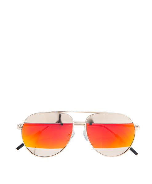 Jill Mirror stripe Aviator Sunglass