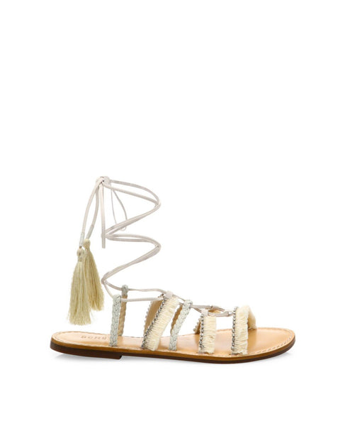 Jolina Lace-Up Flat Sandals