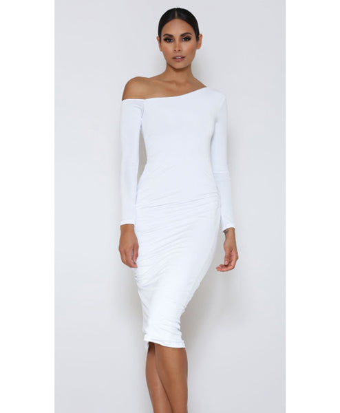 Kori Off Shoulder Midi Dress