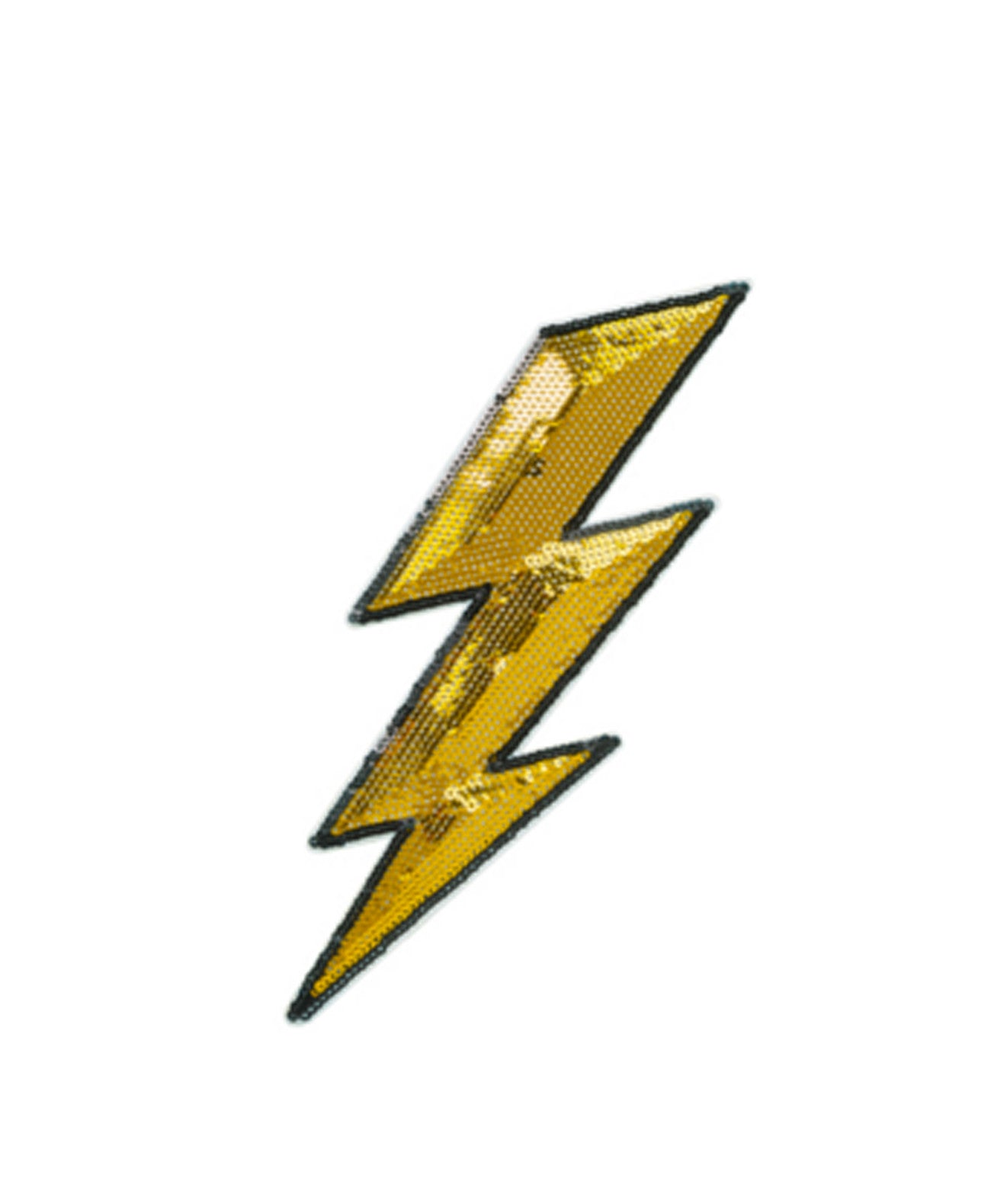 LightningPatch-6in Sequin Lightning 6 inch Sticker Patch