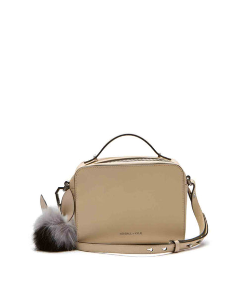 Lucy_creamtan Camera crossbody with pom ears bag charm