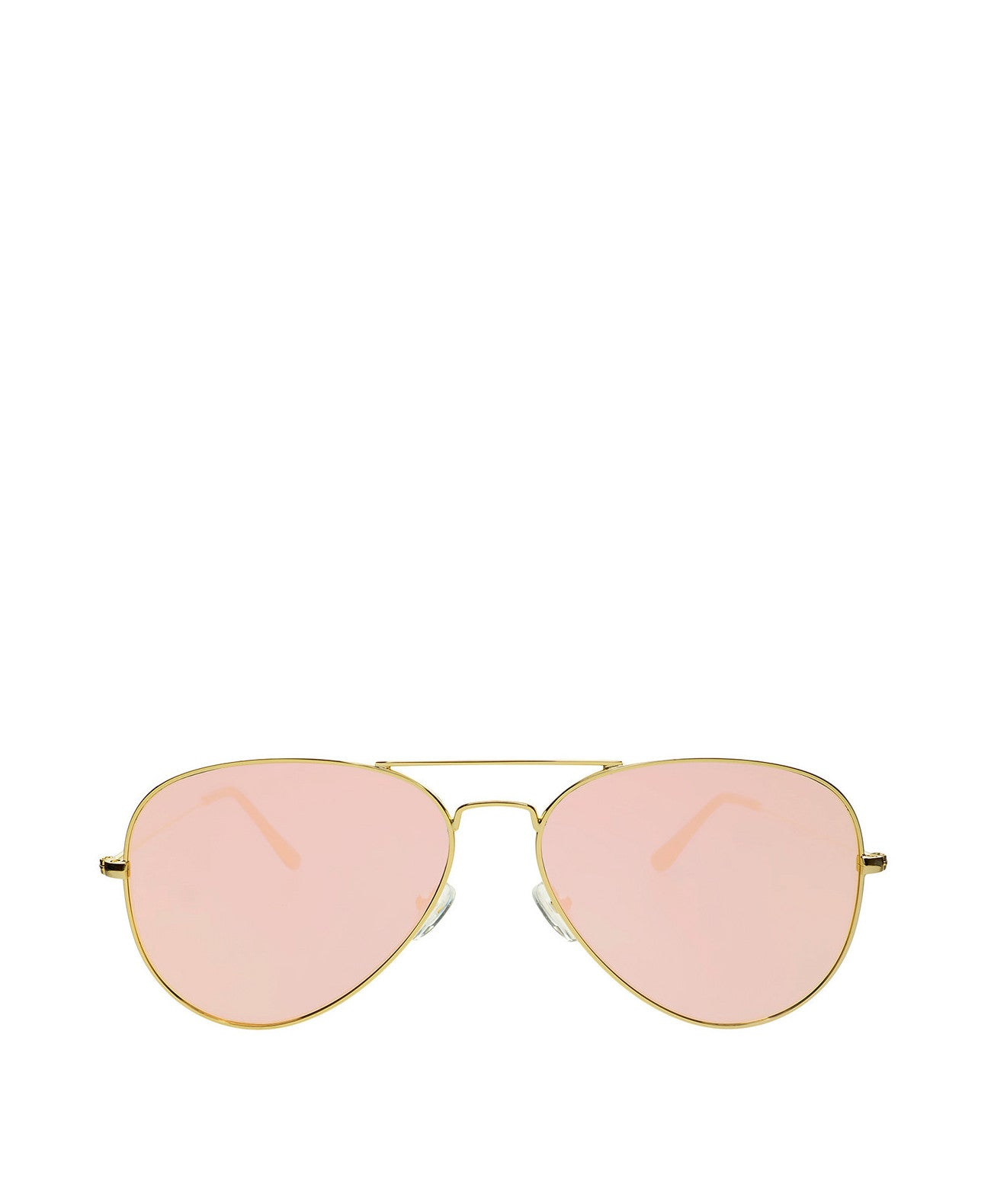 Mango-Pink Large Aviator Sunglasses