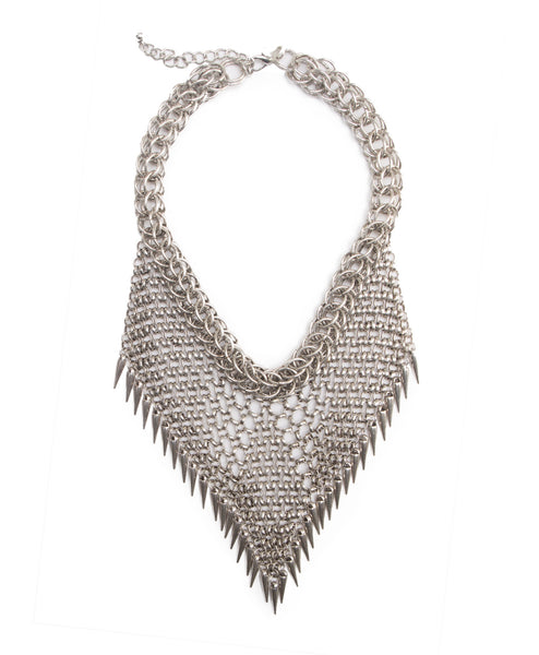 Metal Mesh Bib Necklace