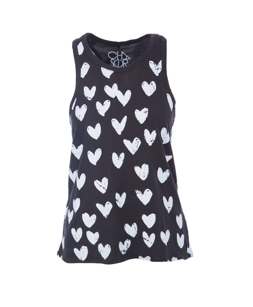Racer back Mini Hearts Print Tank