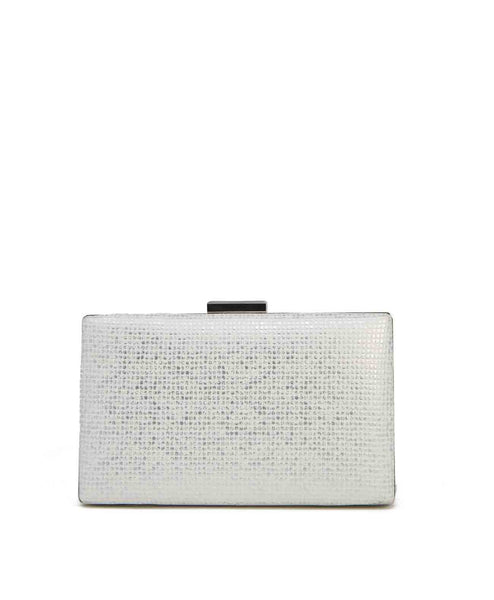 Muted marbles Embossed metallic evening clutch