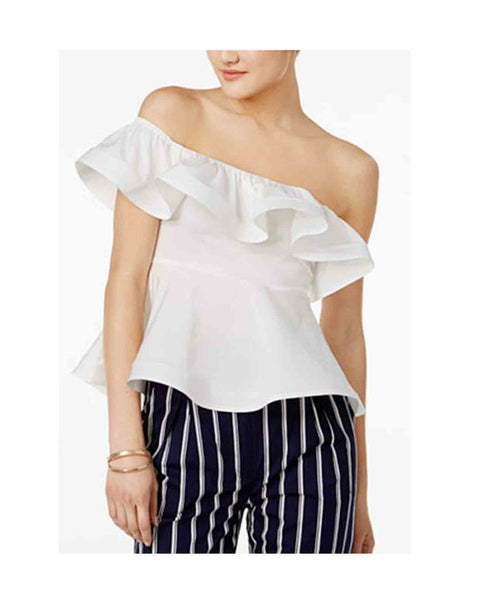 Otto One Shoulder Ruffled Top