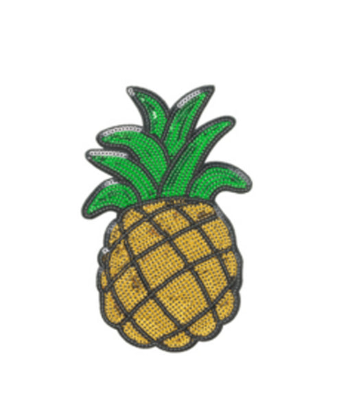 Sequin Pineapple 2 inch Sticker Patch