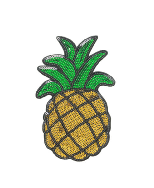 Sequin Pineapple 6 inch Sticker Patch
