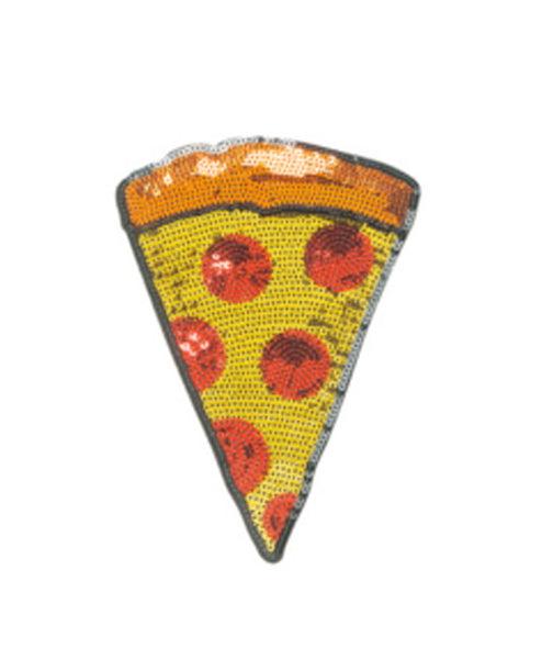 Sequin Pizza 2 inch Sticker Patch