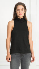 Rae Sleeveless Lurex Turtleneck top
