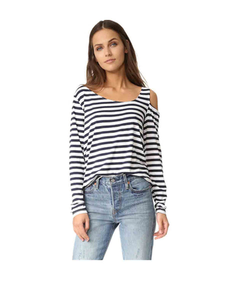 Riri L/S 1 Open Shoulder Stripe