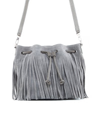 Royce Crossbody Bucket Bag w/ Fringe - Koko & Palenki - 1