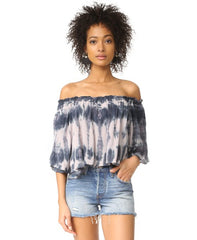 ArtistTop Off Shoulder Tie Dye Cropped Top
