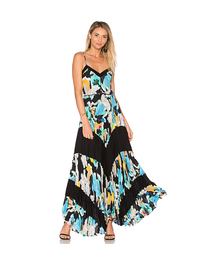 Skye Combo- Grove Floral Pleated Maxi Dress