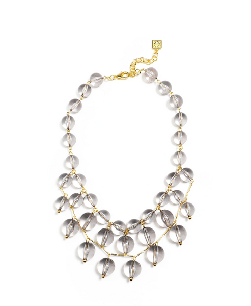 N2080 2 Layer bead bib necklace