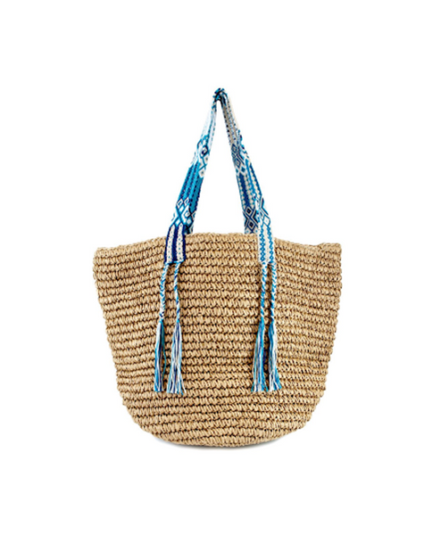 Gemma Straw bag with Woven handles