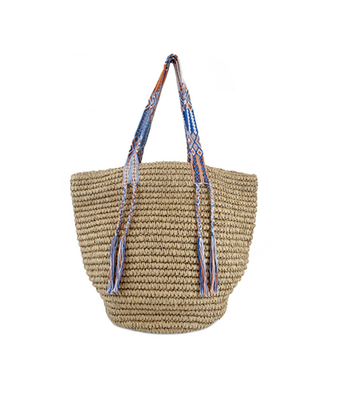 Gemma St Tropez Straw bag with Woven handles