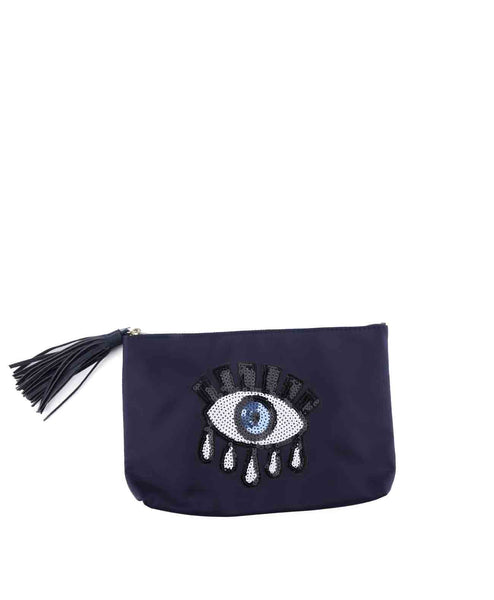 SequinEyeClutch-Navy DVF 10175DVF