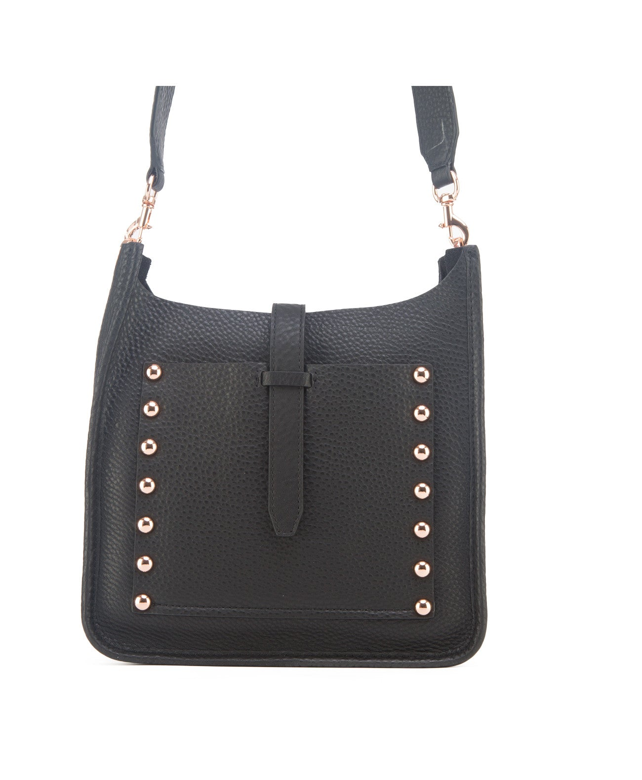 Small feed black crossbody bag - Koko & Palenki - 1