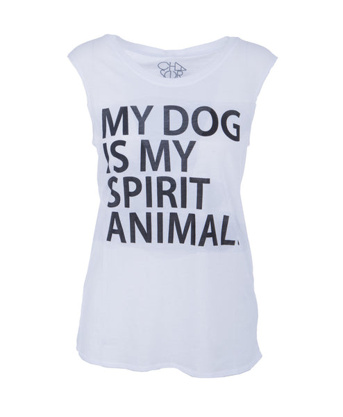 My Dog is My Spirit Animal Muscle Tee