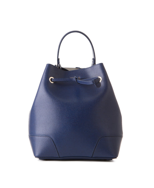 Stacy Leather Bucket Bag