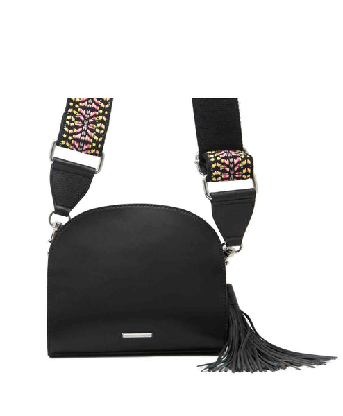 Sunday_moon_black Guitar strap tassel zipper crossbody