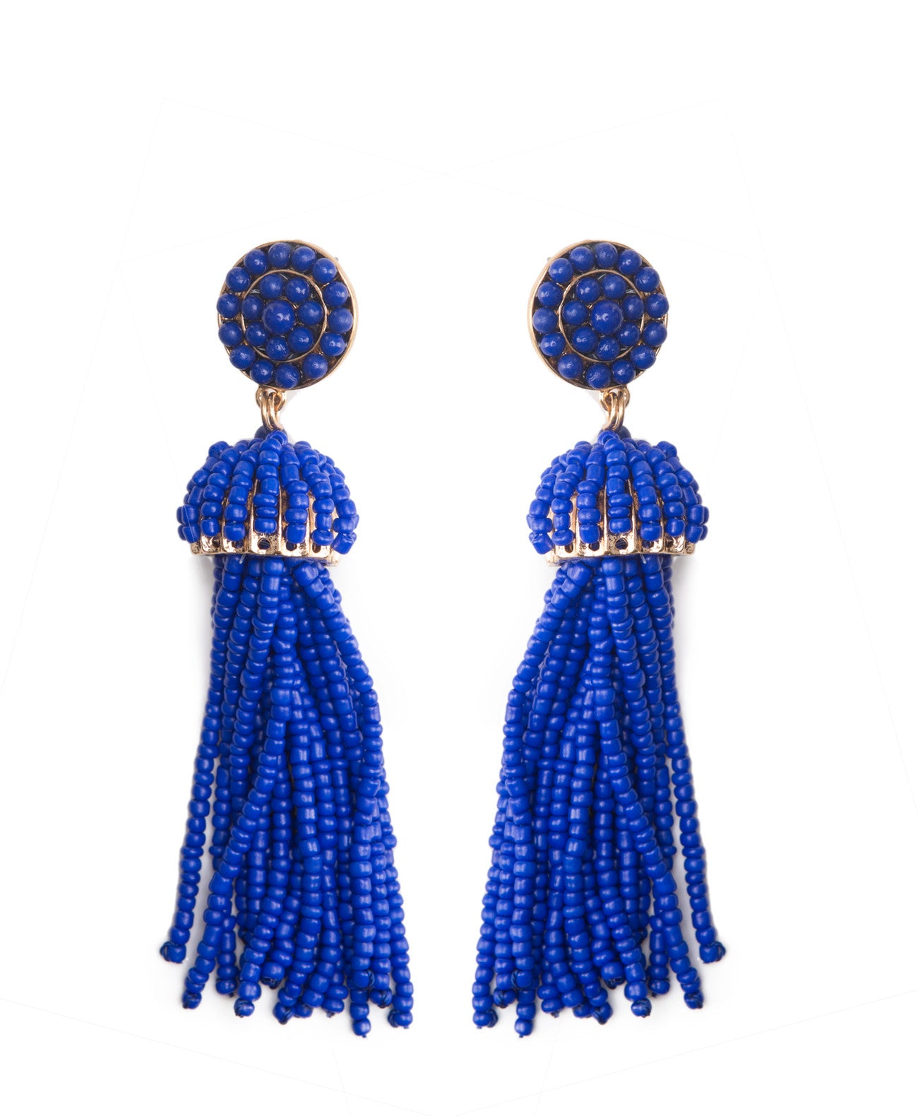 TE1797 Multi Strand Beaded Earrings - Koko & Palenki