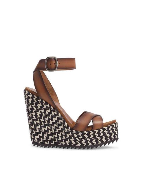 Taika Wedge Heel - Brown