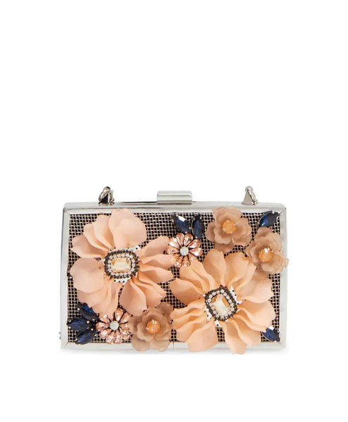 3D flowers Evening Clutch