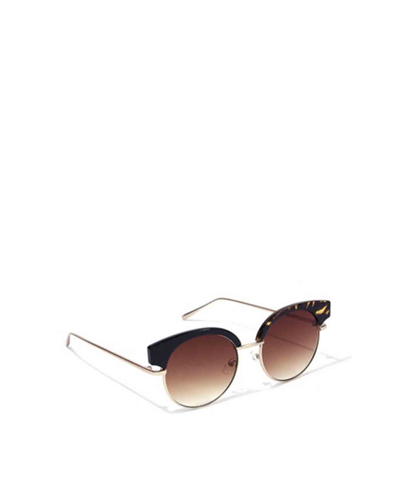 Tina Semi-rimless round sunglasses