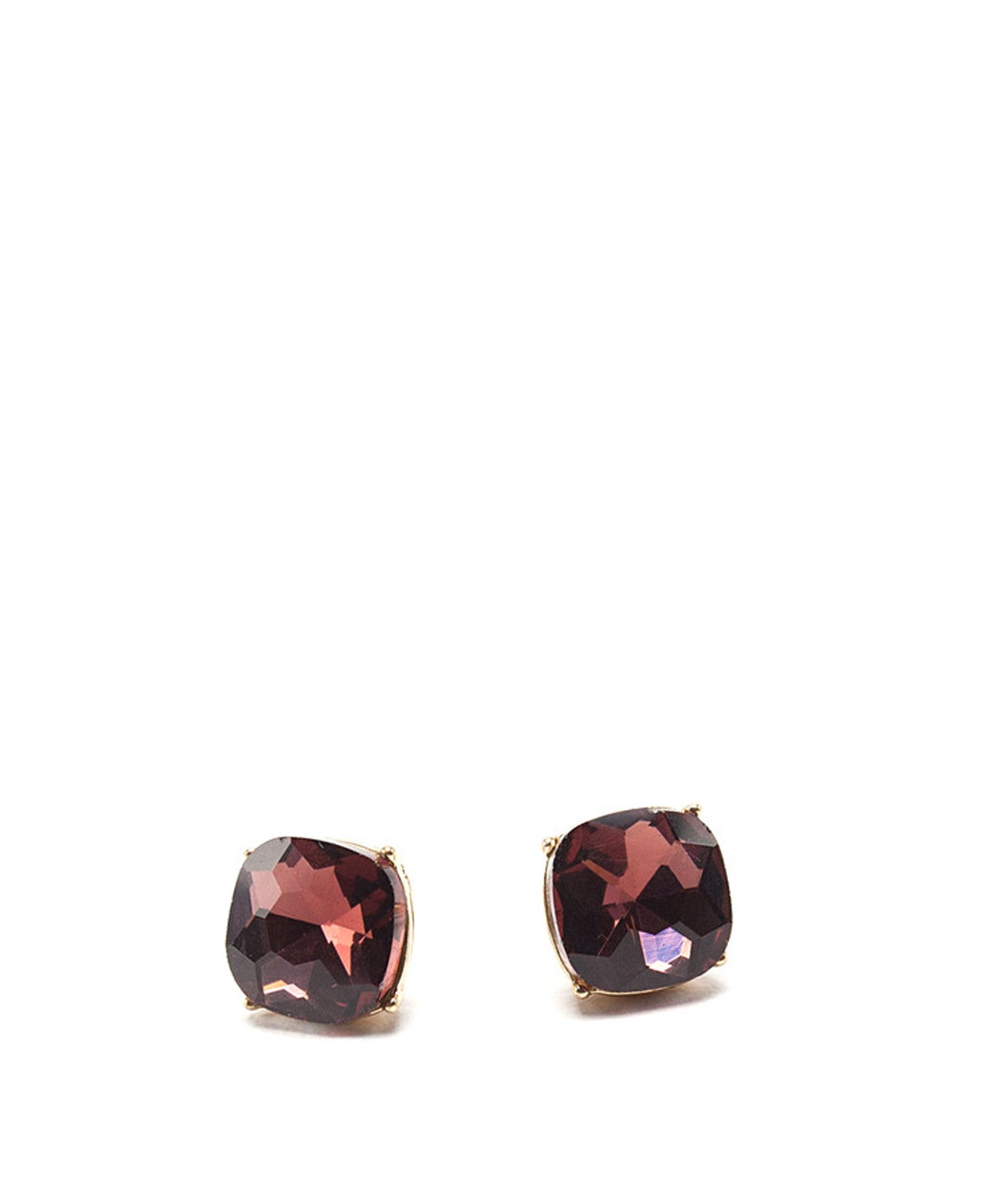 Dark Marsala Gem Stud Earrings by Surii - Koko & Palenki - 1