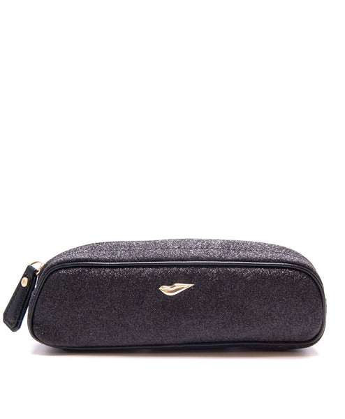 Glitterati Slim Cosmetic Case (Deep Black) by DVF