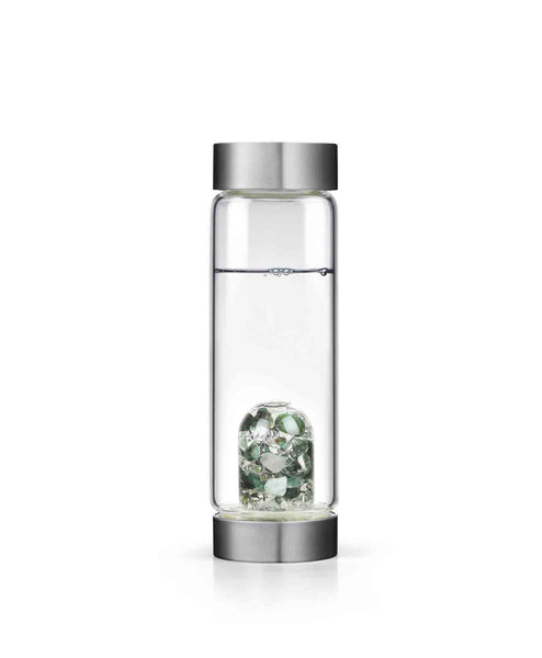Vitality Gem 17oz. Glass Bottle w/ Emeralds