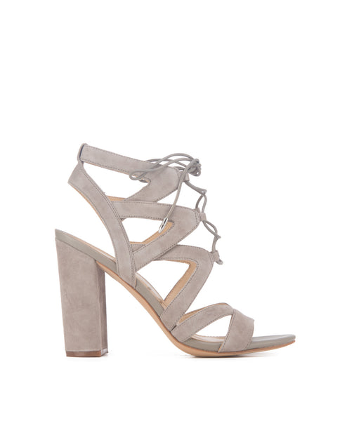 Yardley_grey Lace Up Sandal Stacked Croco Embossed Heel
