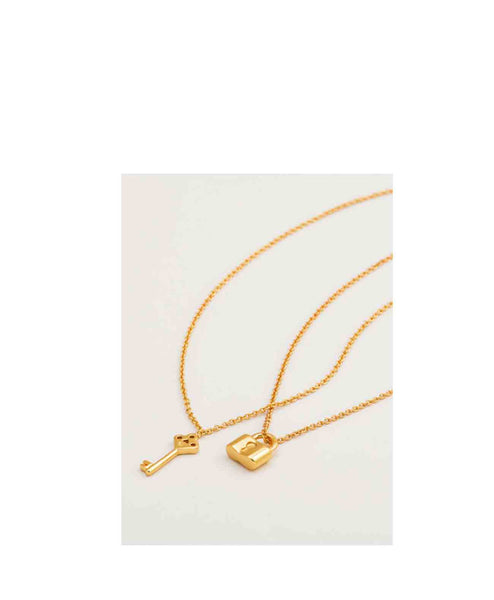 You+Me Lock & Key Necklace set Gorjana