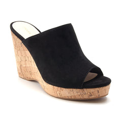 Dawson Wedge Cork Slide in Black - Koko & Palenki - 2
