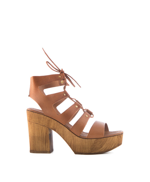 Amelia Lace up high heel sandal